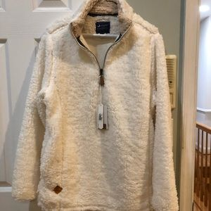 Simply Southern Soft shearling 1/4 zip pullover